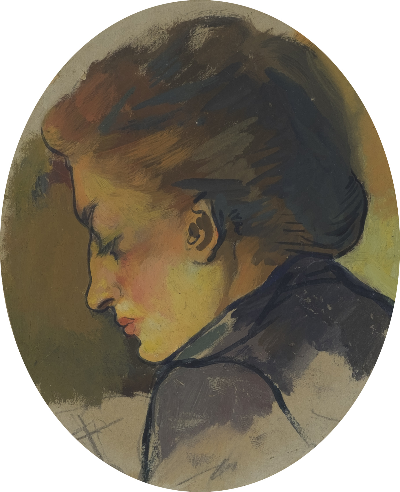 Portrait de la femme de l'artiste de profil, vers 1890-1892