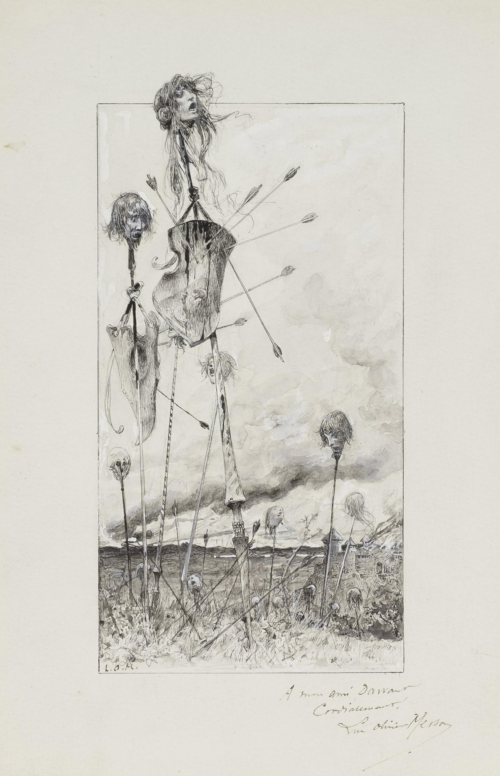 Après la bataille, projet d'illustration pour La Jacquerie de Prosper Mérimée