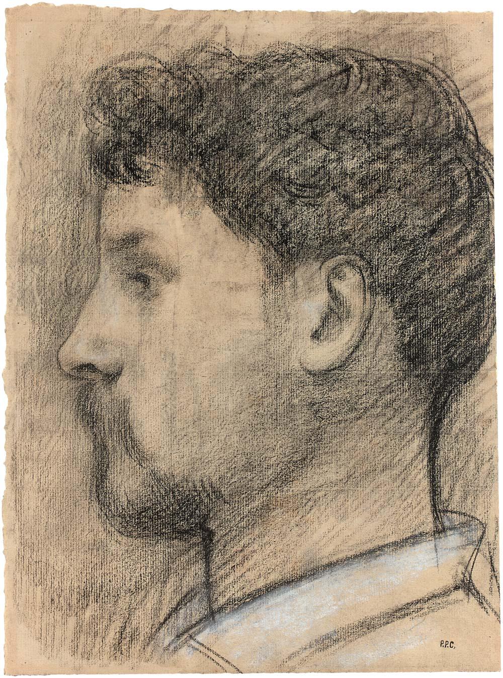 Portrait d'Émile-Adolphe Dezaunay de profil