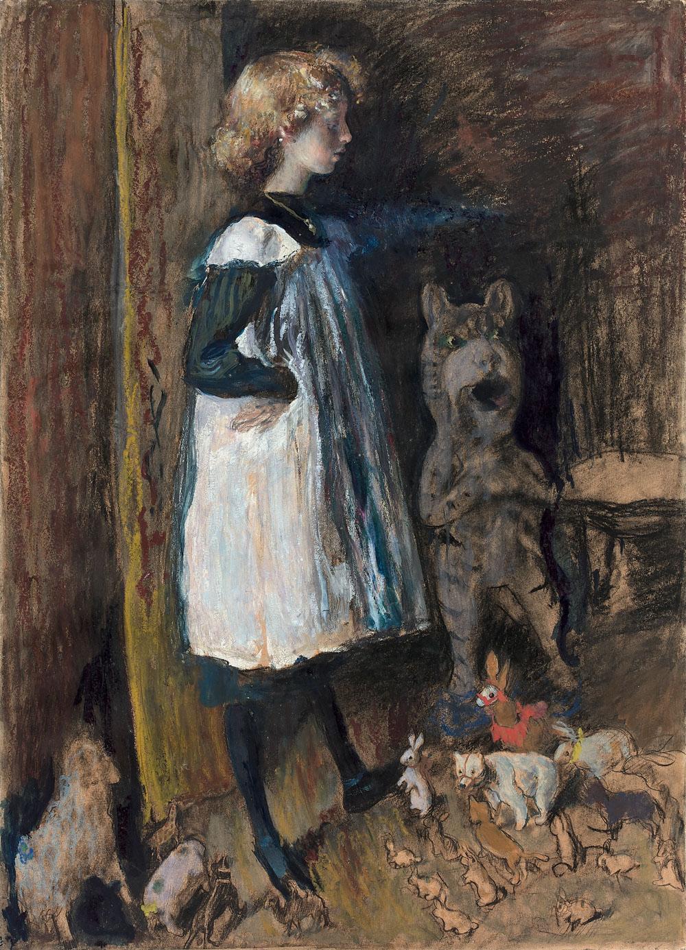 Annette Clemenceau dans un intérieur