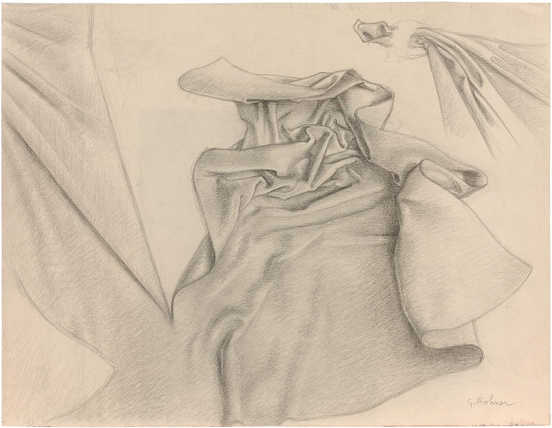 Étude de draperie, préparatoire à Saint Martin