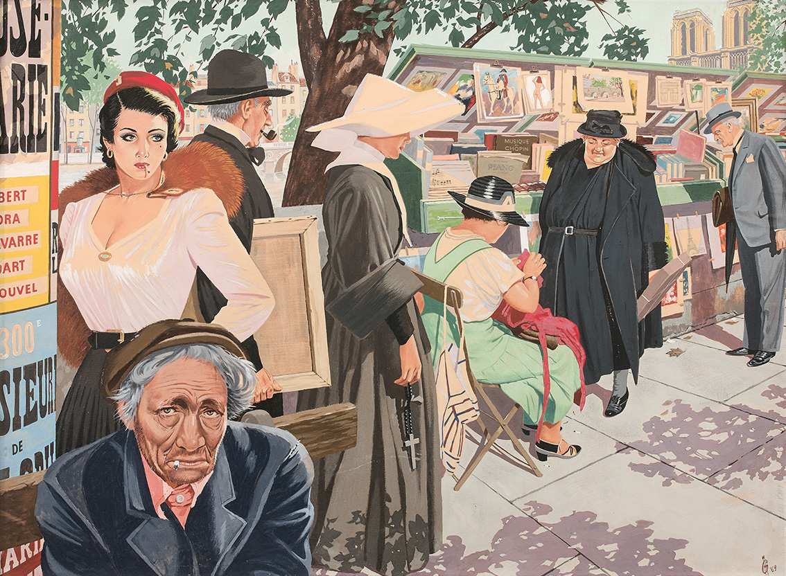Les bouquinistes du quai Saint Michel à Paris